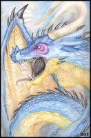 Dragon Watercolour by Sabtastic