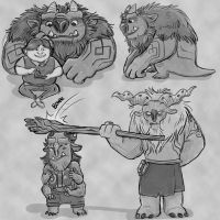 Trollhunter Stream Sketches by Skidar