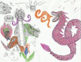 Mixed Dragons 4 all pen by crazytwinlex