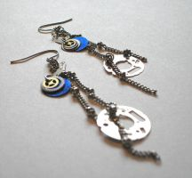 Clockwork Earrings by DelectablyDeviant