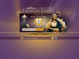 Fashion Empire Landing Page Test by InterGrapher