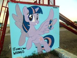 Twilight Sparkle Graffiti by ShinodaGE