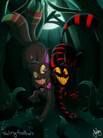Spoopy Cats by Trailing-Feathers