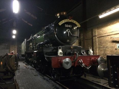 5043 Earl of Mount Edgcumbe at Tyseley sheds by Ryansmither1