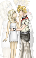 KH: Namine and Roxas by SweetLhuna