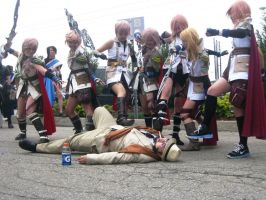 AN11 FF13 Lightning vs Man by animenorth2011