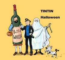 tintin bt halloween by monster3x
