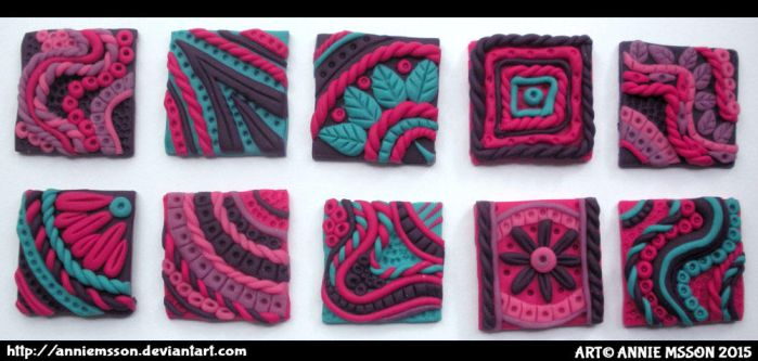Polymer Clay Inchies by AnnieMsson