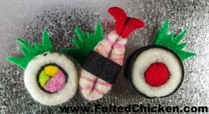 New Set of 3 Sushi Magnets - Available by AlwaysSuagarCoated