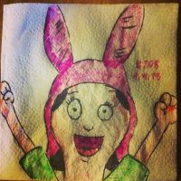 Napkin Art 208 - Louise - Bobs Burgers by PeterParkerPA