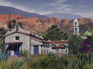 Mission at Diablo Canyon by xmas-kitty