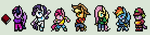 MLP FiM Sprites RPG Style - Mane 6 and Spike by XDairantoux