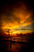 Sunset in anyer beach by renggamarantica