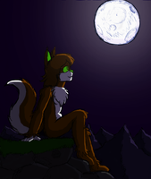 AT: Fondly regard moon by HedgehodgeMonster