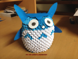 3D Origami Chu Totoro by BrownBlurry