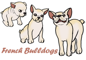 French Bulldogs by Ket-Shi
