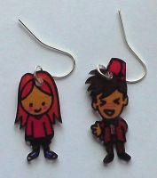 .Kawaii Amy n Doctor earrings. by Lovelyruthie