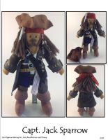 Capt. Jack Sparrow Plushie by SoandSewPlushies