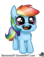 Cutesy Wootsie Baby Rainbow Dash by Bananers97