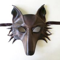 Leather Animal Mask WOLF by Teonova by teonova