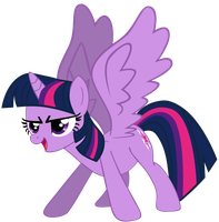 My very first Twilight Sparkle, version 4. by Flutterflyraptor