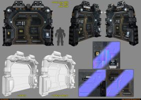 Sci-Fi Module - Door [UDK] by amirabd2130