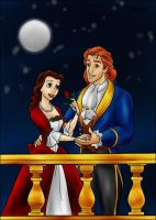 DC - Adam and Belle (color) by vanillacoke-disney