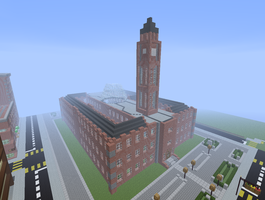Minecraft Town hall 1 by PanM