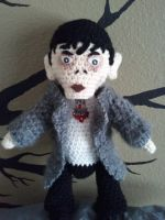 Amigurumi Barnabas Collins in a Mink Coat by jelc85