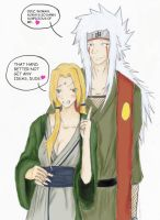 Jiraiya and Tsunade by Neko-Riceball