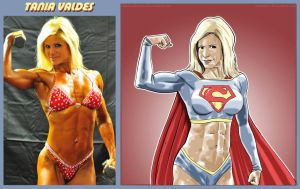 Tania Valdes Is Supergirl By fabiovalentini by zenx007