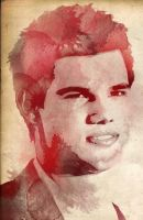 Taylor Lautner Water Color by CrazyPieLover