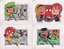 20-23 WOMEN OF MARVEL: SERIES 2 sketch cards by thecheckeredman