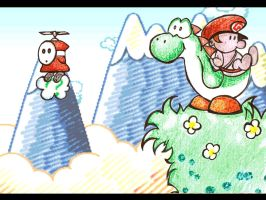 Yoshi's Island - Fan Art by numbed
