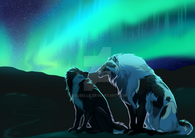 Under the northern lights by noebelle