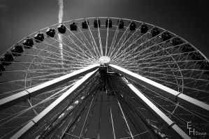 Navy Pier Ferris Wheel by BonaFideChimp