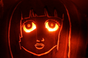 Ai Enma Pumpkin Carving by touch-of-jade