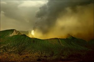 Earth's power-Bromo Volcano by Ananyana