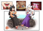 Commission ~ Playful Lunch (sm free web version) by SpokleArt