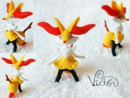 654 Braixen by VictorCustomizer