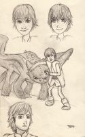 Hiccup doodles by foxy-rin
