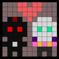 Dark Couple in Pixels by theOrangeSunflower
