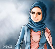 muslim girl by Faizaldin