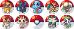 Pokemon Buttons by tikopets