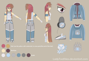 MFB OC: Alluriana Reference Sheet by LadyToothless