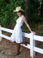 Cowgirl IV - Fence by BlooDoveStock