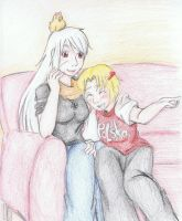 [APH] Watching TV by Freddy-chan