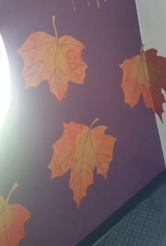 Autumn fox leaves close up by chey-enya