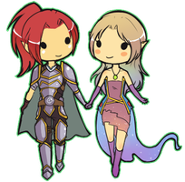 Argrith and Rylde -SC- by Gladosy