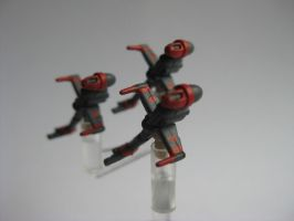 Star Wars Armada Custom - B-Wing Red Squadron by sadowsk1